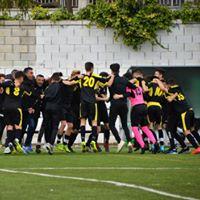 Celebración de equipo de fútbol CD Fortuna