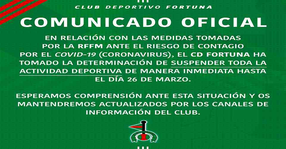 Comunicado Covid CD Fortuna