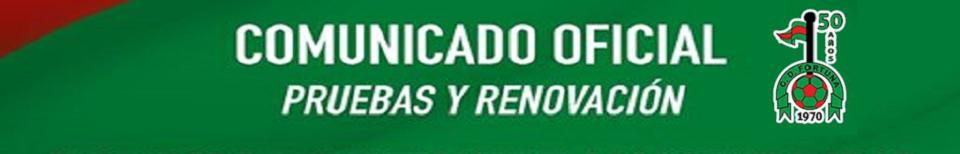 Comunicado Oficial Pruebas y renovaciones