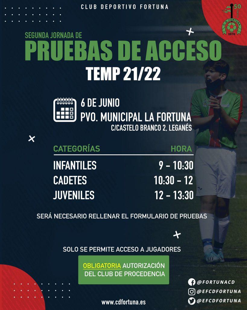 2º jornada pruebas de acceso CD Fortuna 21-22 (1)