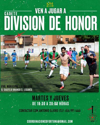 Acceso Cadete División de Honor