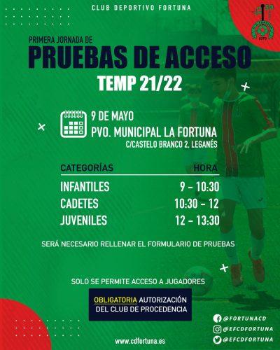 Pruebas de acceso CD Fortuna 21-22 Post